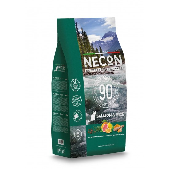 Necon NATURAL WELLNESS ADULT SALMON & RICE superpremium 1,5kg