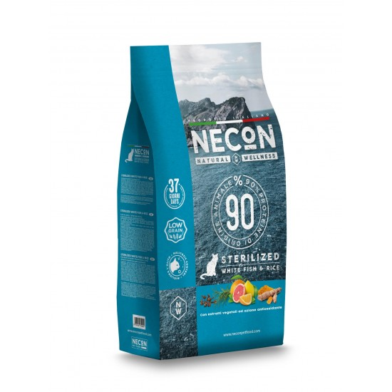 Necon NATURAL WELLNESS STERIL WHITE FISH & RICE superpremium 1,5kg
