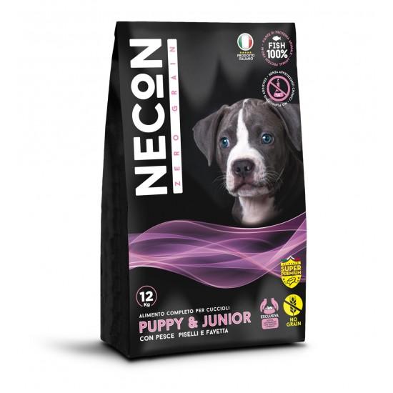 Necon Zero Grain Puppy & Junior with fish, peas and broad bean 12kg